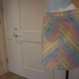 『Sinequanone(シネカノン)パステルラインスカート』の画像