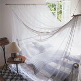 『蚊帳(かや)をおしゃれに使いこなしたインテリア画像集 1/2 【インテリアまとめ・一人暮らし おしゃれ 】』の画像