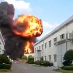 【動画】中国、今度は化学工業原料倉庫が爆発!オレンジ色の火球が膨れ上がる! [海外]