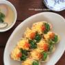 【ひな祭り】低糖質なオープンいなり寿司&レンジと麵つゆで作る茶碗蒸し