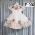 バラ付ふりふり子供ドレス ピンクオレンジ(3~4歳)SOLD OUT