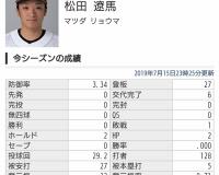 阪神がトレードに出してしまった松田投手、逸材だった