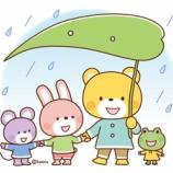 『【クリップアート】傘をさす動物たちのイラスト』の画像