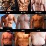 体脂肪率に対する体つき【男】