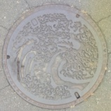 『長野県小布施市のマンホール。小布施みにマラソンに参加したときに撮影』の画像