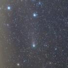 『雲間に浮かぶジャコビニ・ツィナー周期彗星(21P)』の画像
