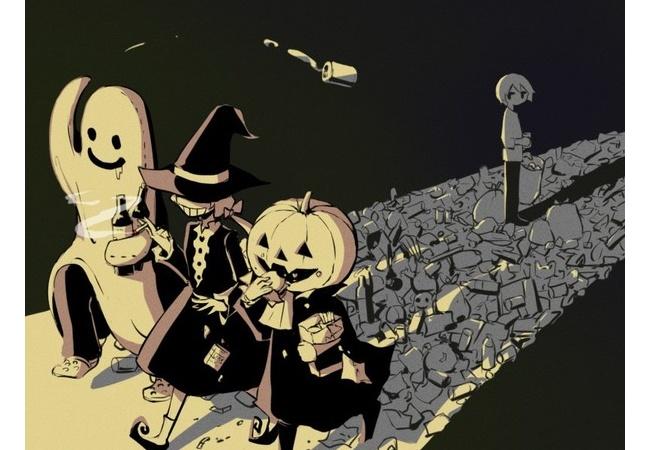 twitter絵師「ハロウィンの風刺画描きました」