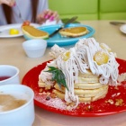 『京橋 【ホテル京阪 京橋 グランデ7F ロレーヌ】で可愛いパンケーキとチーズティー』の画像