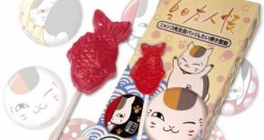 「夏目友人帳」ニャンコ先生の缶バッジ&たい焼き型の飴セット発売