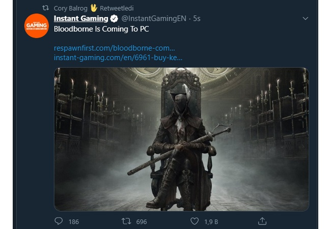 Bloodborne、PC版販売か?
