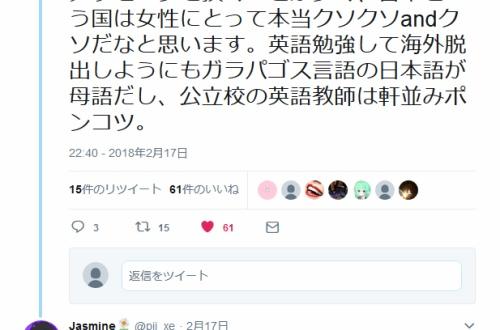 女さんブチギレ「日本がクソすぎて脱出しようにも英語ができない 学校が悪い、社会が悪い、国が悪い」のサムネイル画像