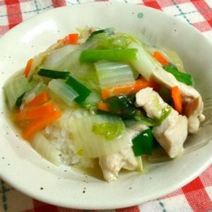 鶏ムネ肉で中華丼