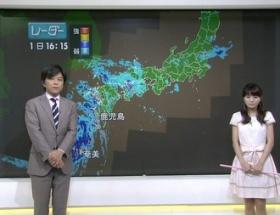 気象予報士・岡村真美子さん(30)が裸エプロンみたいな衣装で登場し実況民絶叫