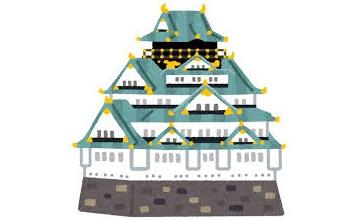【ワロタ】誰も居ない大阪城で花見してたら最強の敵出現状態になったんだけどwwwww