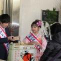2018年小田急百貨店藤沢店の新年樽酒鏡開き その1(海の女王・前田さつき)