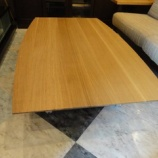 『COZYダイニング昇降テーブル・ホワイトオーク無垢材NA色』の画像