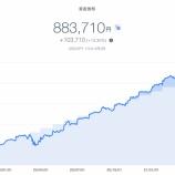 『【爆益!!】2021年4月1週目!THEO+docomoの資産運用状況は883,710円でした』の画像
