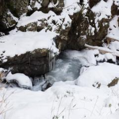 氷瀑を見るために御船の滝へ【2015】