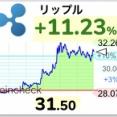 【朗報】仮想通貨リップル、大きな売りを溶かして32円まで暴騰するwwwwwwwww【XRP】
