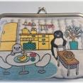 Suicaのペンギン「刺繍ポーチ(キッチンダイニング)」がめっちゃ可愛い。