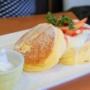 【千葉 本八幡】茶寮 煉 チーズクリームエスプーマのいちごショートケーキ風ホットケーキ