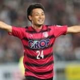 『ファジアーノ岡山 FW赤嶺が2ゴール!山口と対戦し、2-1で競り勝つ!10試合負けなし』の画像