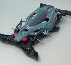 「自分色エアロアバンテ」サフカラーのレース車