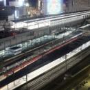 鉄路の彼方へ~岡山駅俯瞰でサンライズ瀬戸・出雲をバルブ撮影~