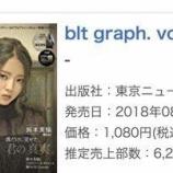 『鈴本美愉が表紙の『blt graph.』が発売2週目にしてオリコン週間写真集ランキング1位に!』の画像