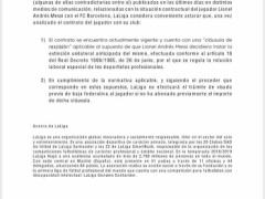 メッシの移籍についてリーガ公式が声明!「880億円払わないと移籍は認めない!」www