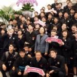 【動画】台湾、日本から総統府へ見学に来た修学旅行生の前に、蔡英文総統が登場! [海外]