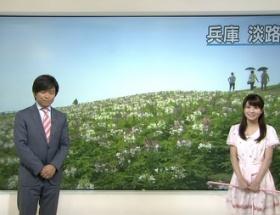 気象予報士・岡村真美子さん(30)が夏休みの小学生みたいなロリロリ衣装で登場し実況民絶叫