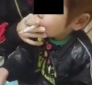 子供にタバコを吸わす動画をTwitterに投稿 その親を逮捕