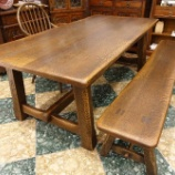 『【リビ充家族にお勧めのテーブルとベンチ】飛騨産業・プロヴィンシャルのタバーンテーブル・P3とトリッスルベンチ・P4』の画像