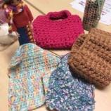 『戸田deあむあむの会 活動中!編み物好きな方が集う楽しげなサークル。次回は3月27日水曜日。天気が良ければ桜を楽しみながらのお花見あむあむ会になるそうです。』の画像