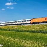 『【国産機関車】フィリピン向け通勤客車編成初回試運転(6月22日)』の画像