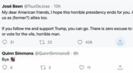 【米国】記者「トランプ支持者はフォロー外せ」 白人選手「じゃあね👋🏿」→「チームに害をなすもの」と糾弾され出場停止処分にwwwww