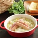 手軽に豆料理!白いんげんとソーセージの煮込み☆非常時の食料の備蓄品について