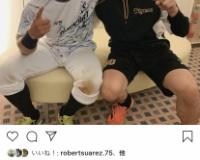 【朗報】阪神・青柳、今季初勝利で笑顔!梅野とのツーショット