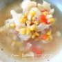 コーンとカリフラワーのスープ