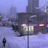 『雪景色・戸田公園駅前』の画像