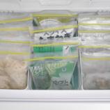 『●冷蔵庫収納● 冷凍庫の収納はジッパー付バッグで立てる収納が便利!』の画像