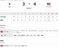 プレミア12 Sラウンド JPN3-4USA[11/12] 日本反撃届かず初黒星…鈴木2安打から浅村3適時打全打点も