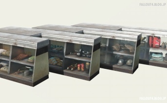 Stocked Vendor Counter Display Cases
