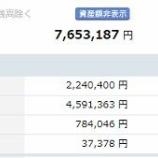 『【運用状況】2019年5月末の資産合計は765万円でした。』の画像