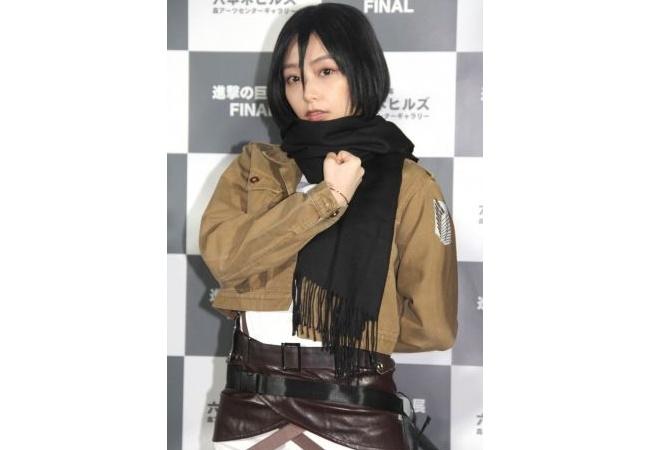 【画像】宇垣美里、進撃の巨人ミカサのコスプレした結果wwwwwwww