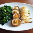ビーフストロガノフと焼き野菜