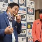 『金メダルを口に、名古屋市長の暴挙』の画像
