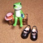 マドレーヌちゃんの通学靴? 清楚な学生さん風にと、ワンストラップシューズのご依頼をいただきました。