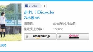 乃木坂46 『走れ!Bicycle』 初日売上15万枚の好発進